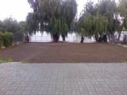 Pregatire teren pentru gazonare.